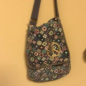 Peace Sign, hippie, Crossbody/Messenger body Bag